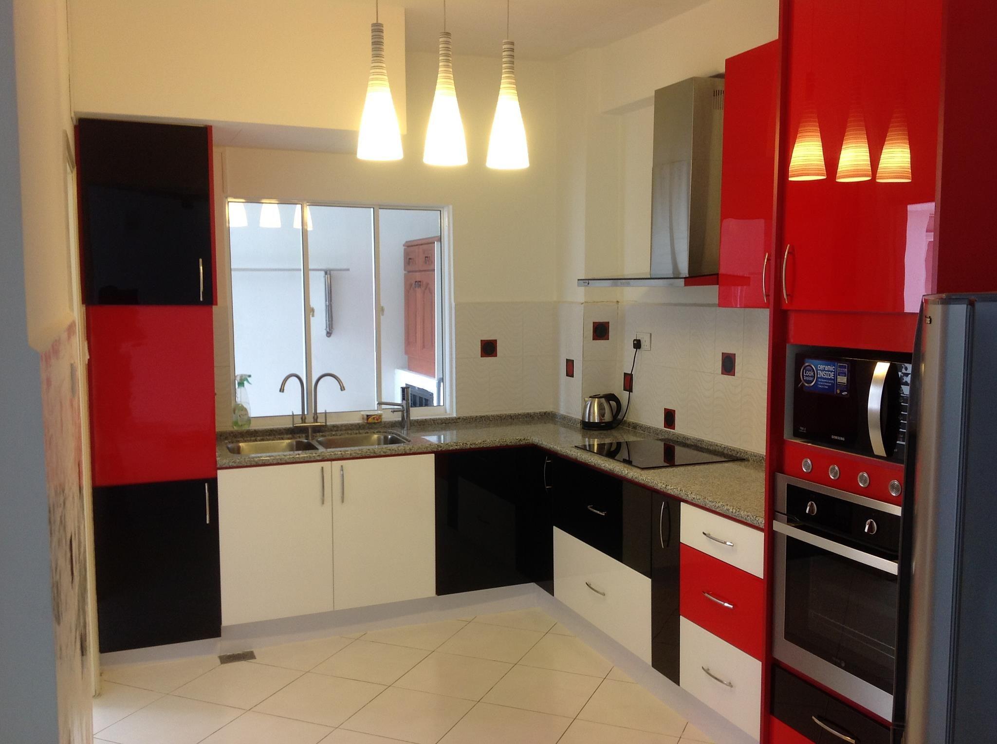 Kitchen at Bukit Antarabangsa Ampang. Red, black