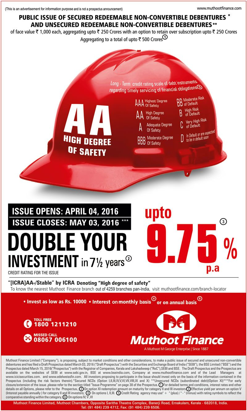 Financial ad design by Muthoot Finance (click here to