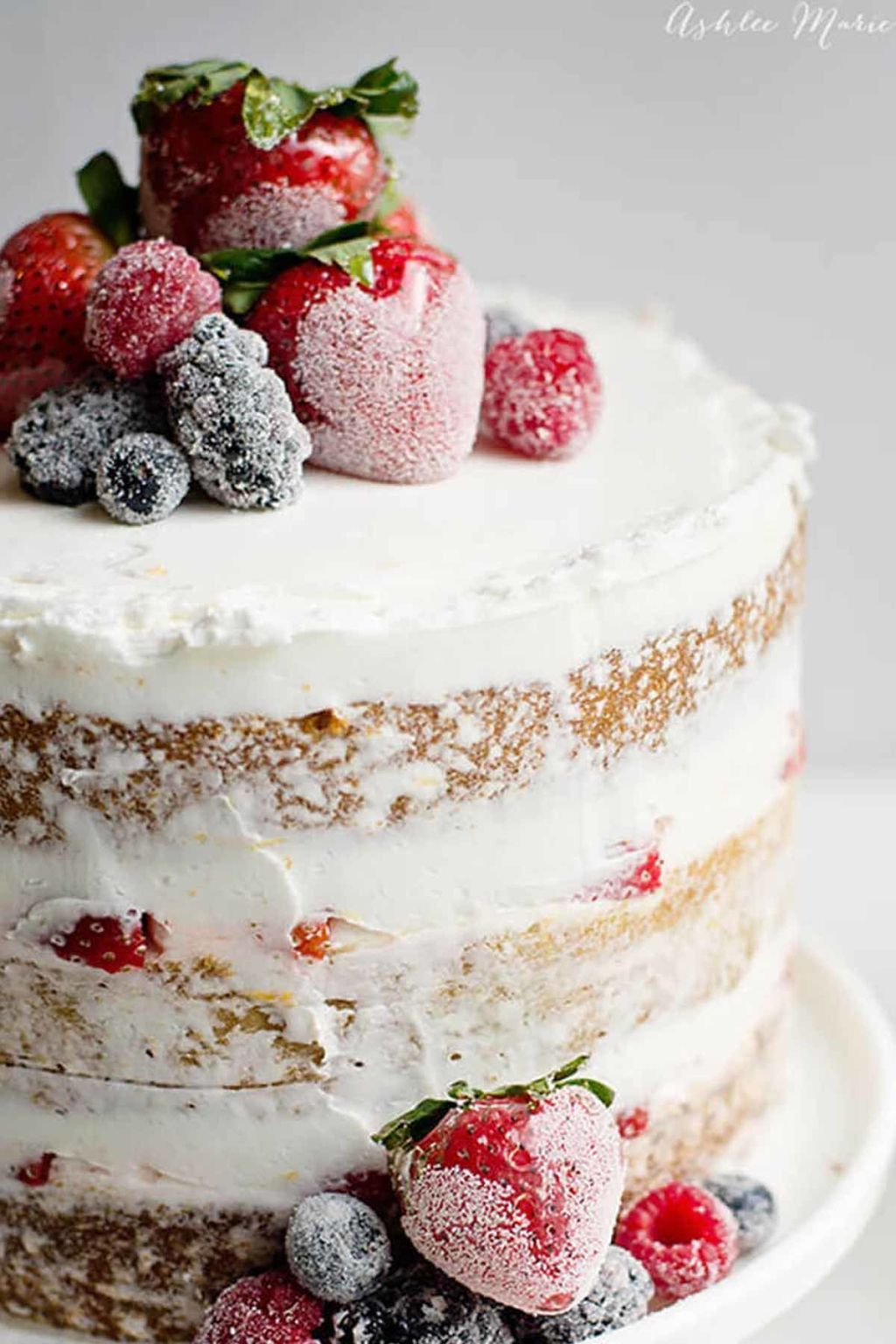 """14 Easy and Delicious """"Naked"""" Cakes Berry, Cake and"""