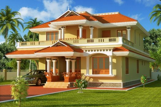 Awesome South Indian Style House Home Exterior Design D