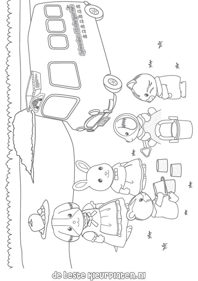 calico critters coloring page  sylvanianfamilies006