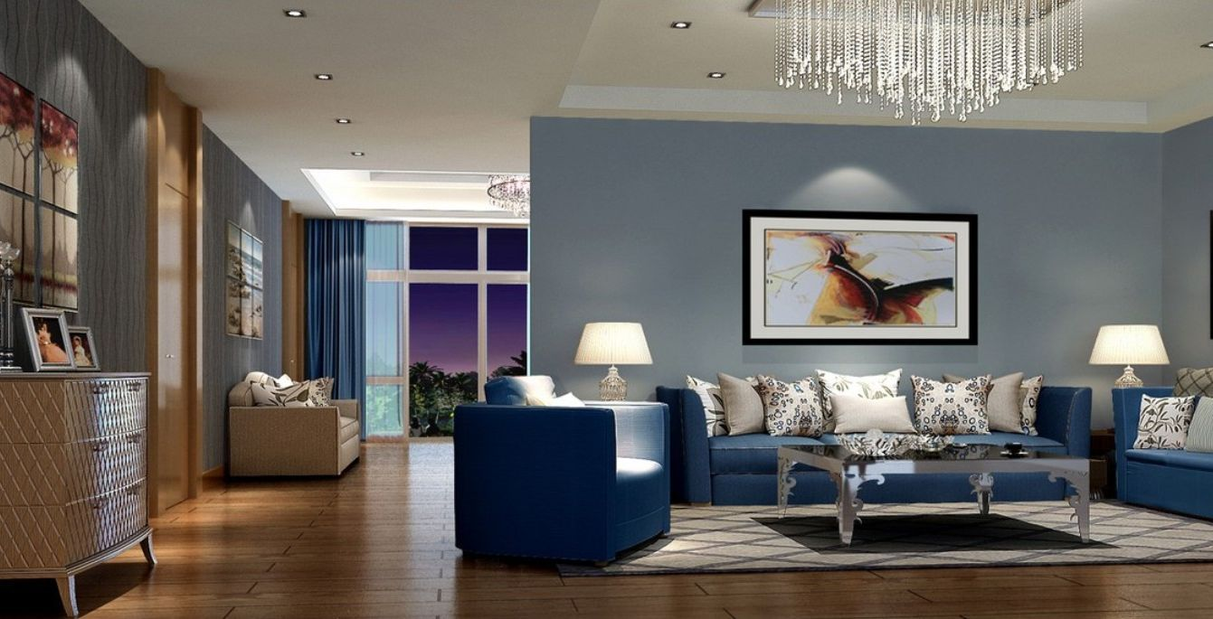 living room , blue living room ideas for calm and relaxing