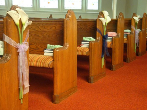 Church Pew Decorations Wedding