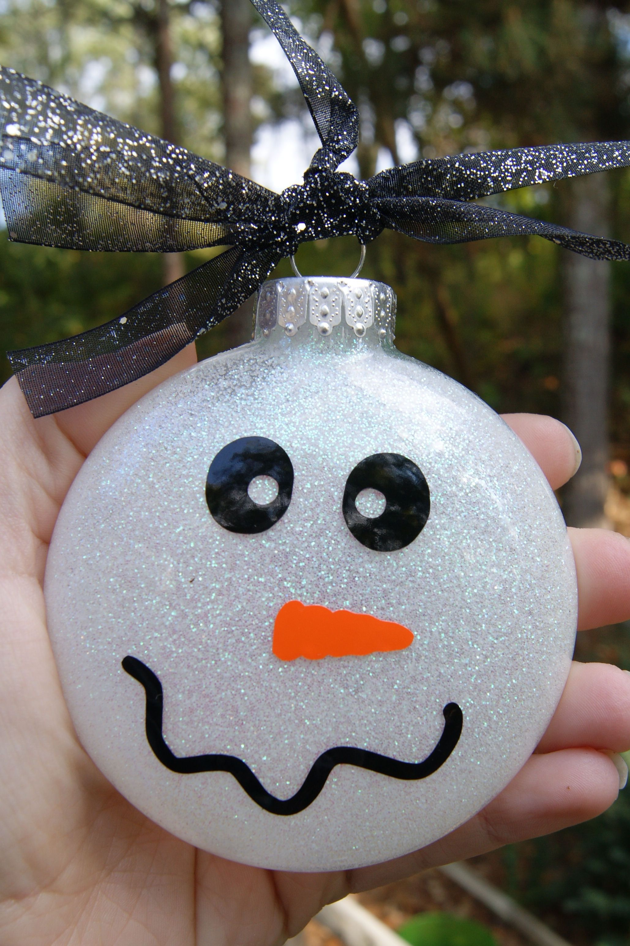 Christmas Snowman Ornament Holiday's Pinterest