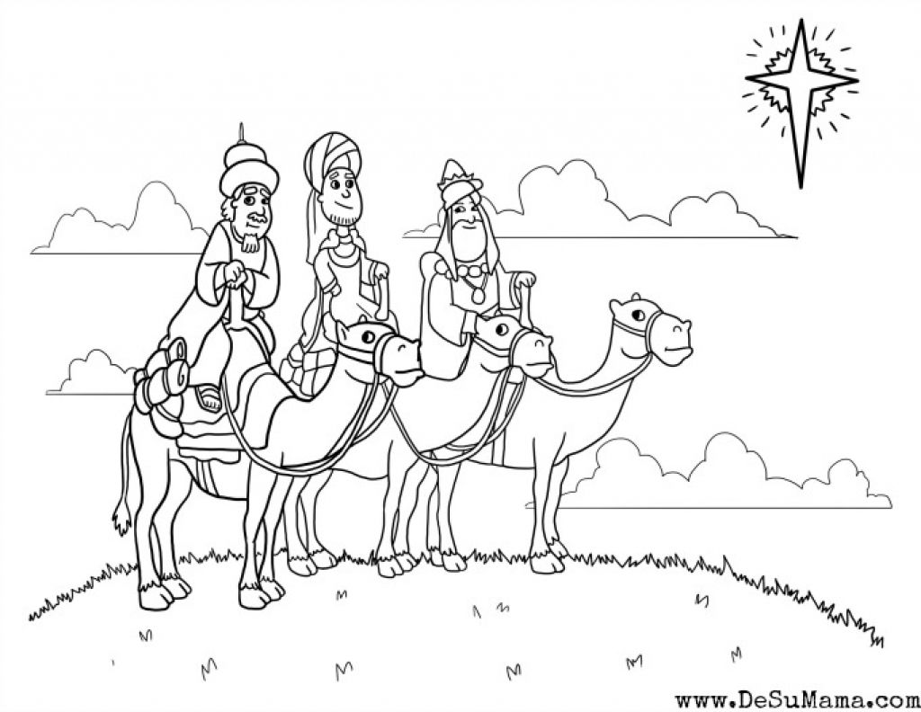 Three Kings Colouring Sheetscoloring Danning With Wise Men