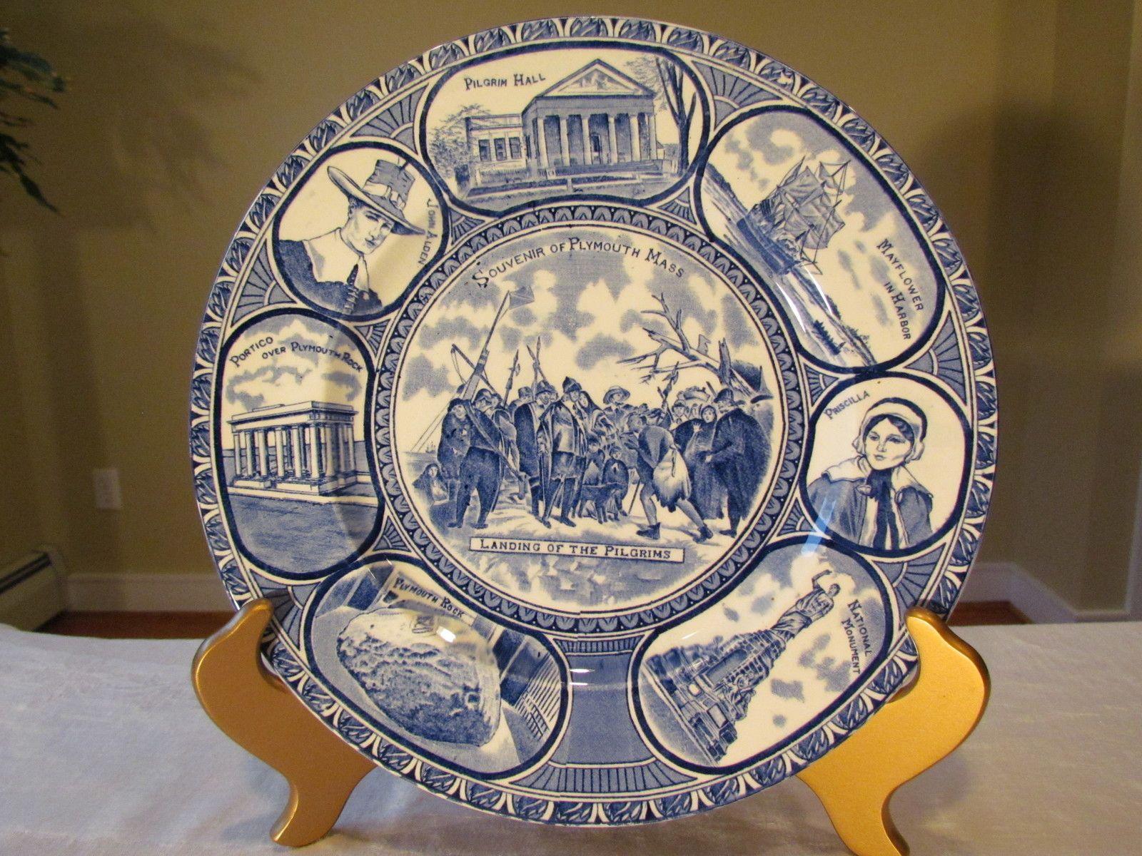 Transferware Plate Staffordshire Historical Souvenir of