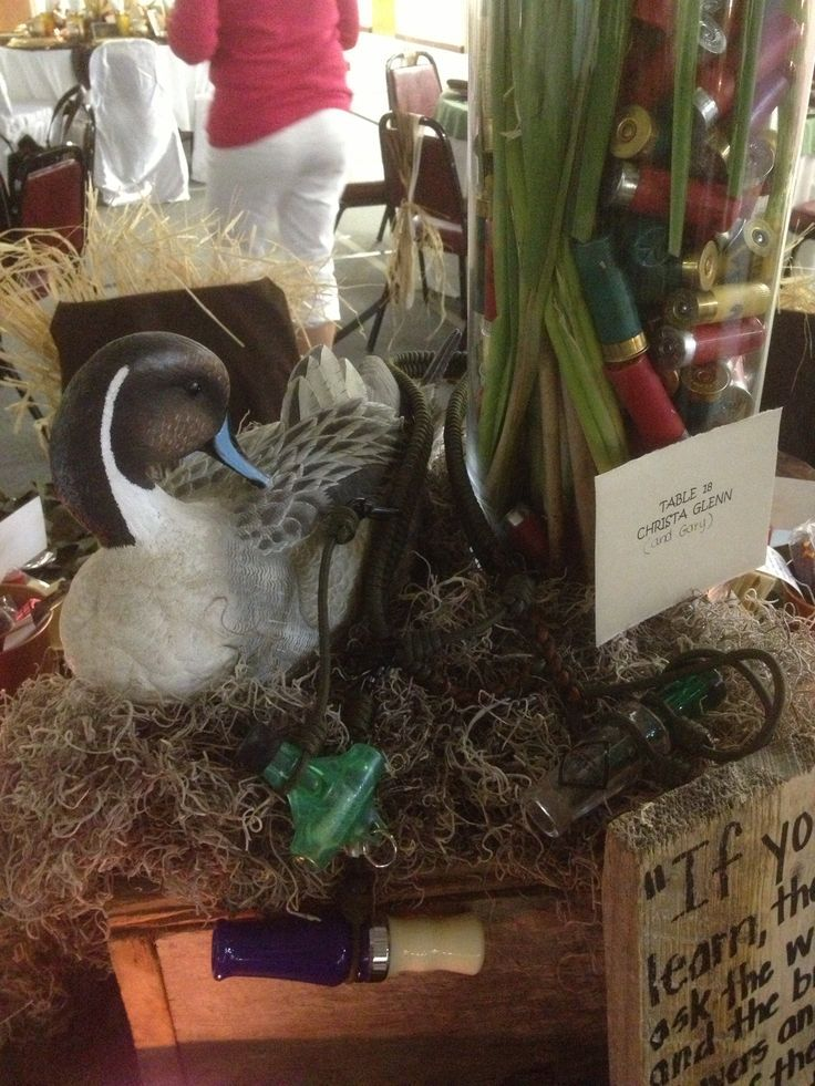 Hunting Theme Table Decorations Duck Themed Table