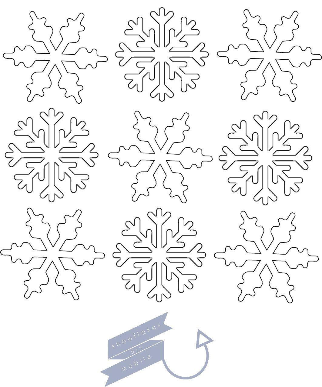 Snowflakes Template Diy Mobile