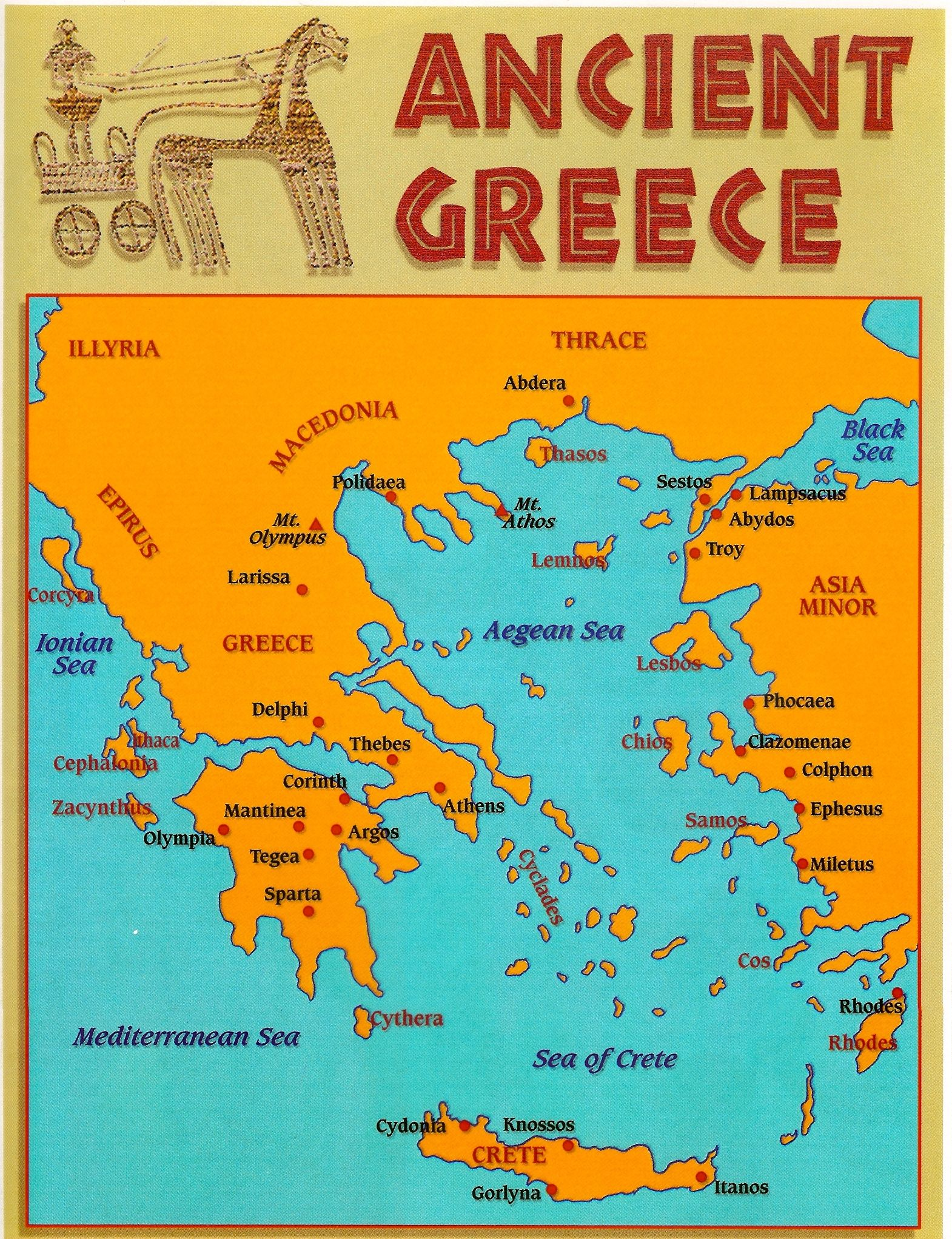 Ancient Greece Map Vs Modern Greece Map