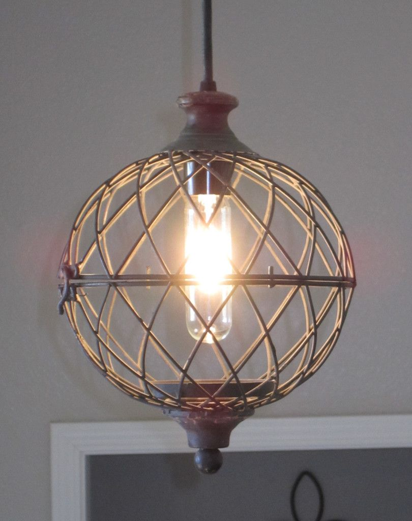 Best Kitchen Gallery: Rustic Small Metal Globe Pendant Light Distressed Rustic Lighting of Weathered Kitchen Lights on rachelxblog.com