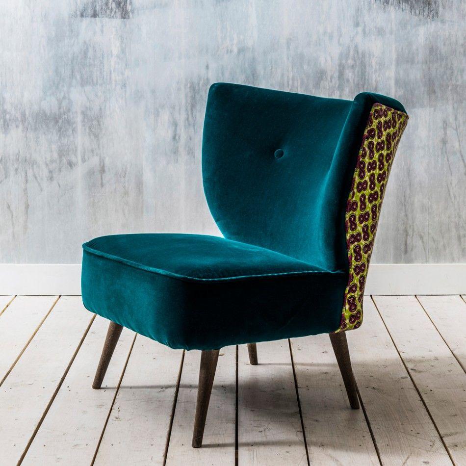 Alpana Teal Velvet Chair HOUSE living room Pinterest