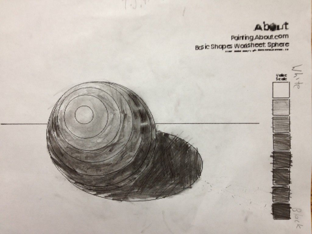 Sixth Graders Created A Value Scale And Practiced Shading