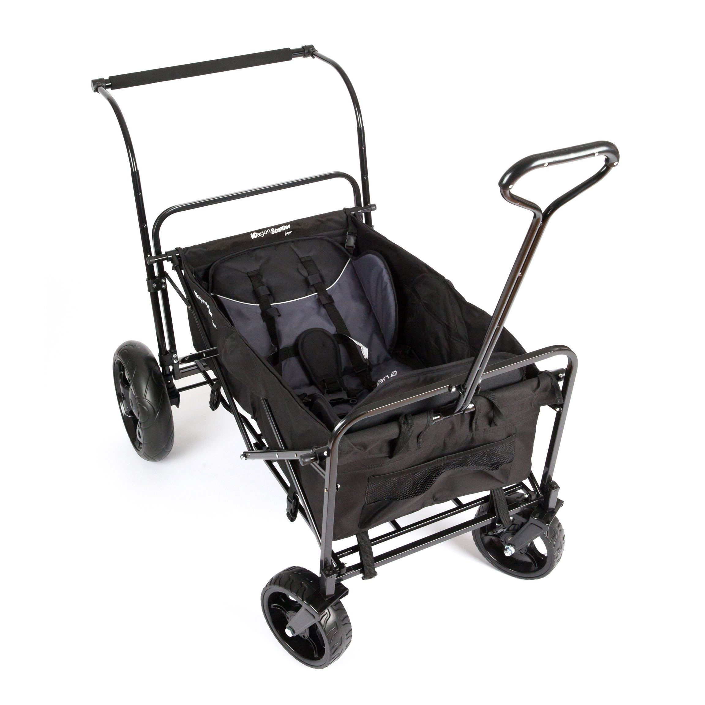 GoGo Babyz Double Wagon Stroller in Black by GoGo Babyz