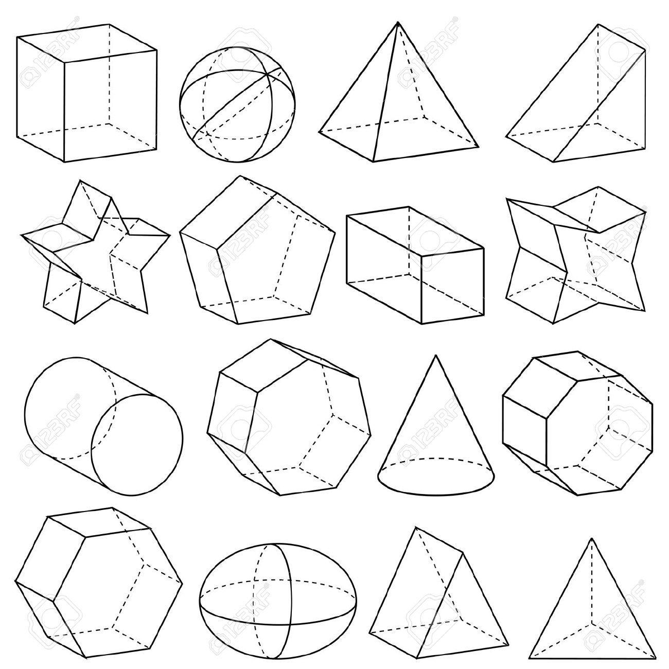 Geometry Stock Vector Math Geometry Drawing