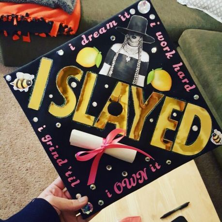 Image result for beyonce graduation caps