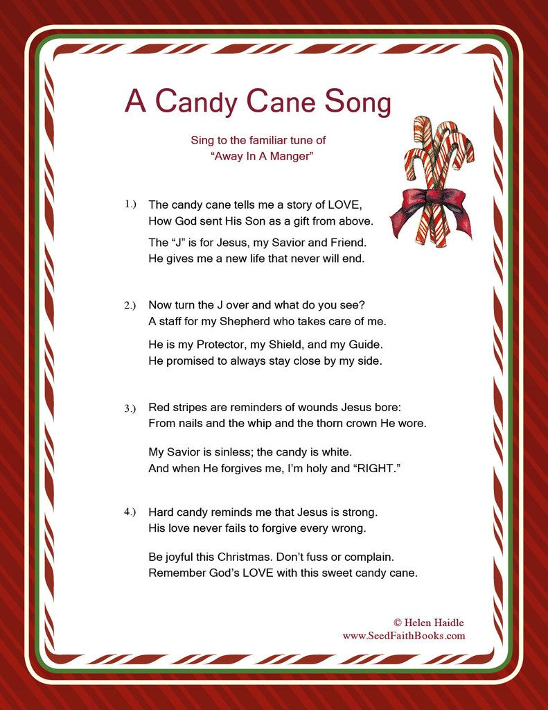 Candy Cane Legend Song PDF Free candy, Canes and Candy