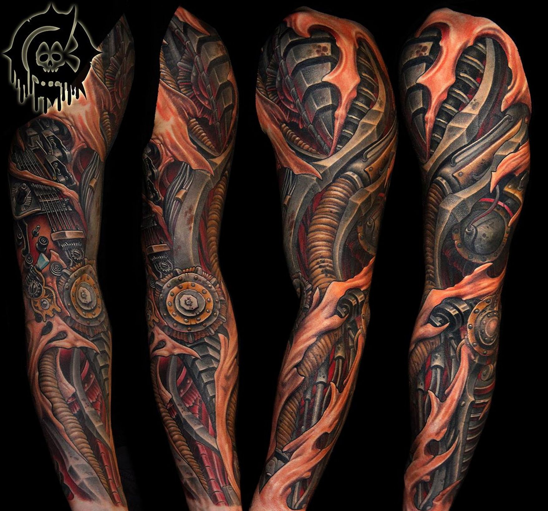 Biomechanical Tattoo Sleeve by Julian Siebert