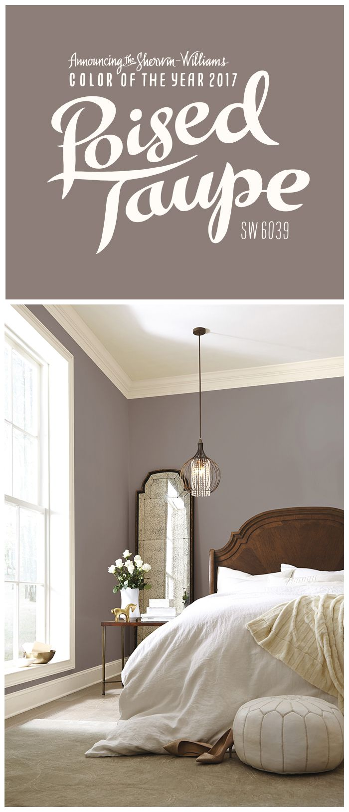 We're thrilled about our 2017 Color of the Year: Poised Taupe SW 6039. This time