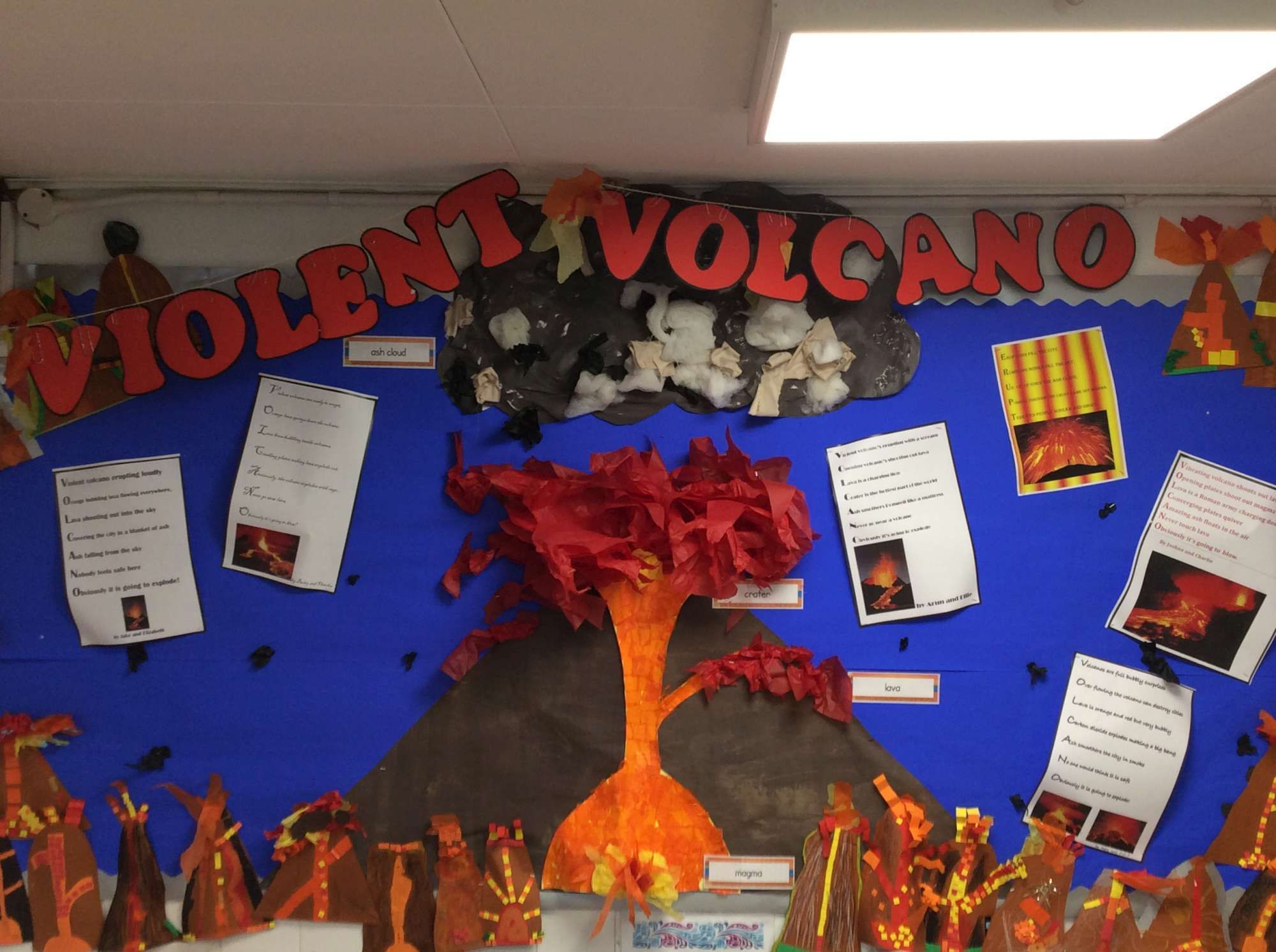 Year 3 Volcanoes Classroom Display Geography Mar 16