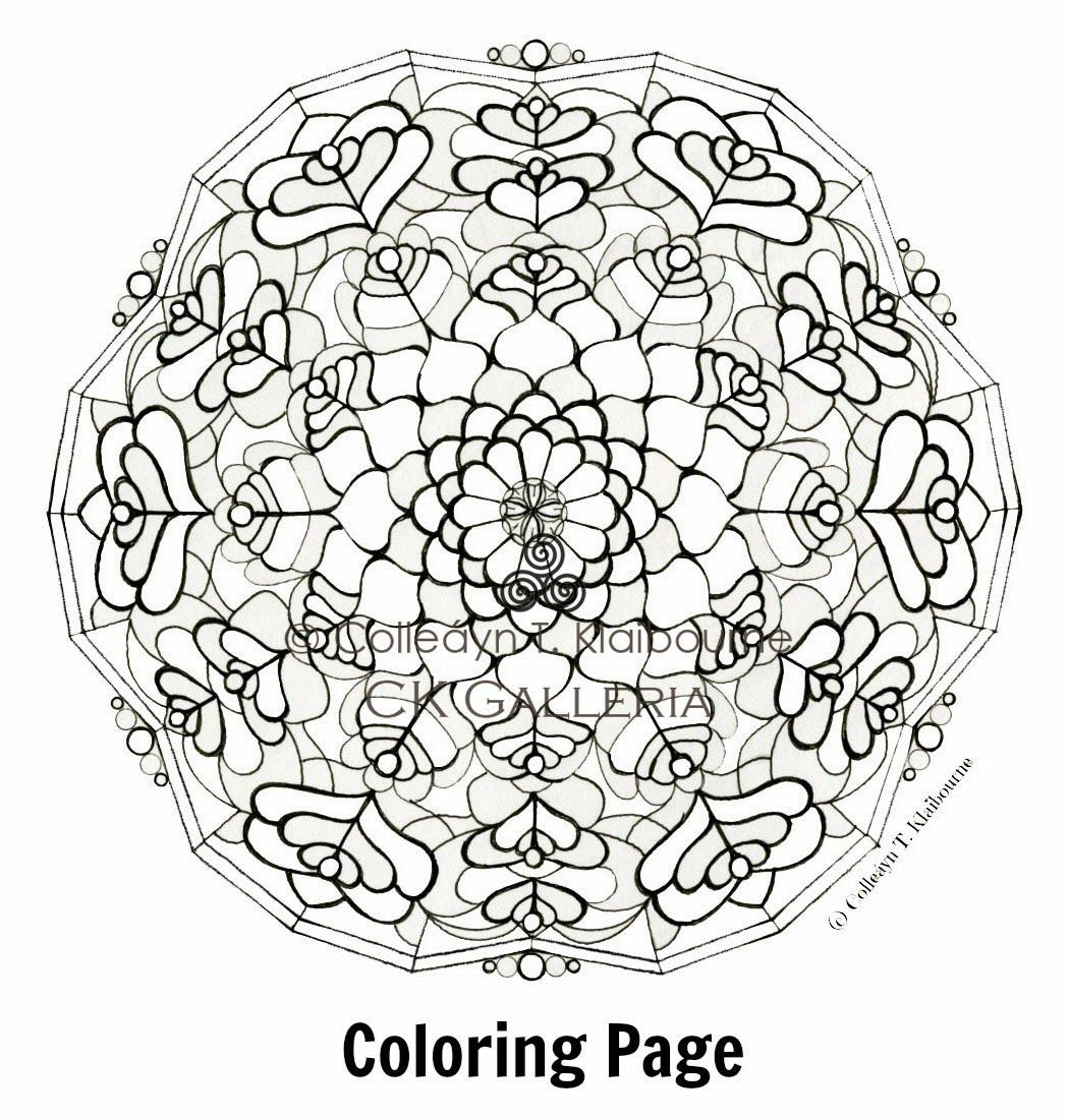 1 Stained Glass L Mandala Coloring Page Gumroad Square Pdf