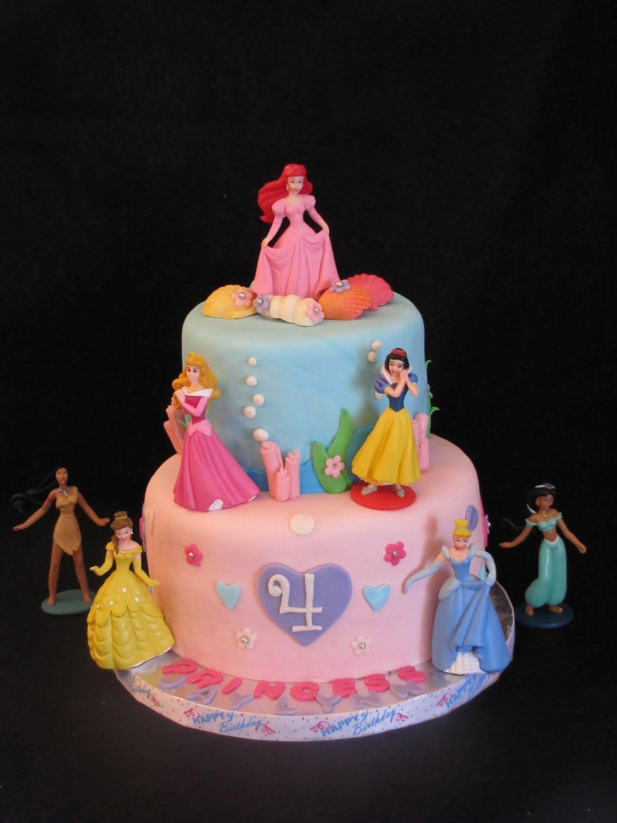 Disney Princess themed birthday cake. This four year old