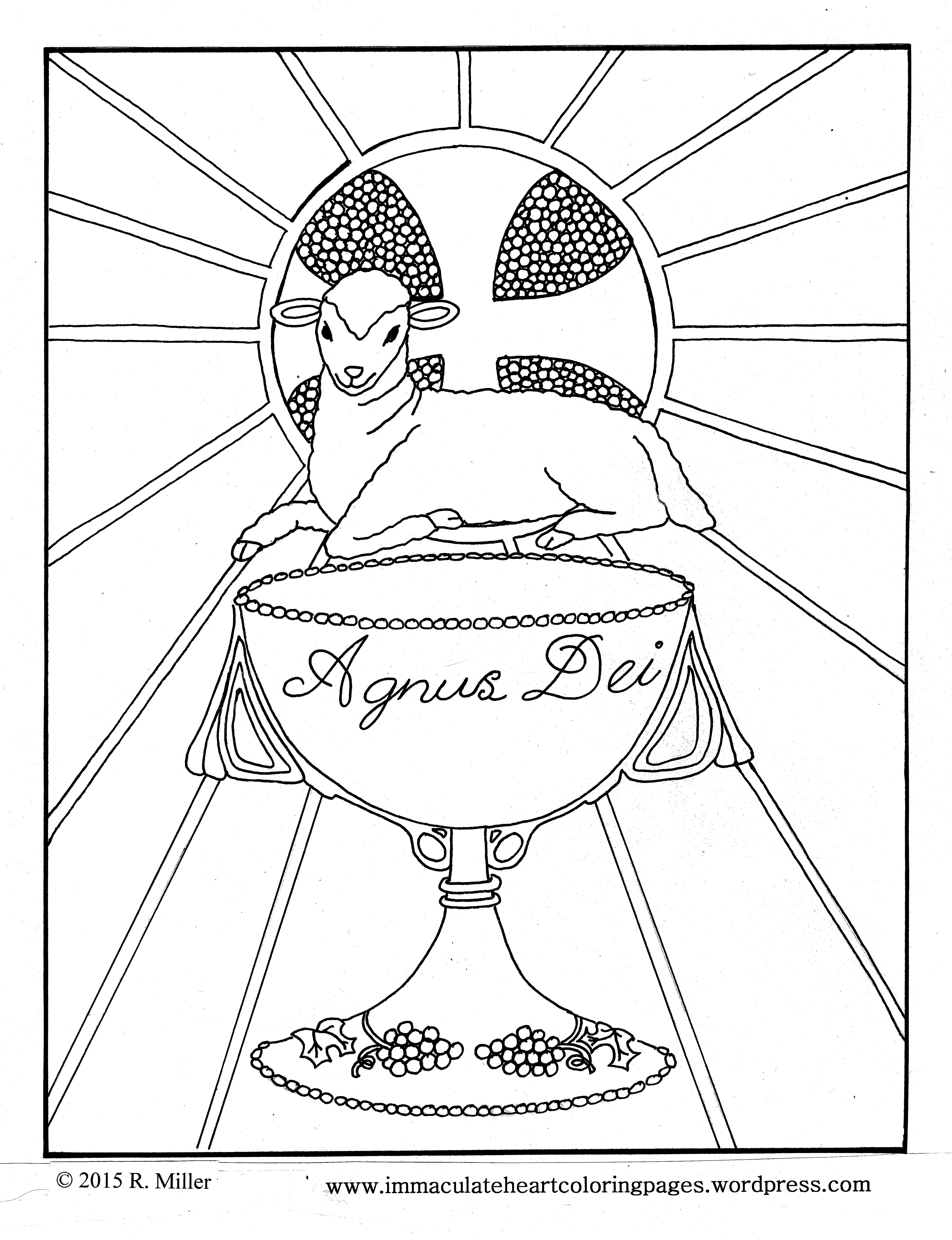 Agnus Dei Lamb Of God Eucharist Coloring Page