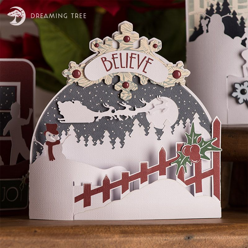 Beautiful Christmas Card SVG Cutting File from 3dsvg