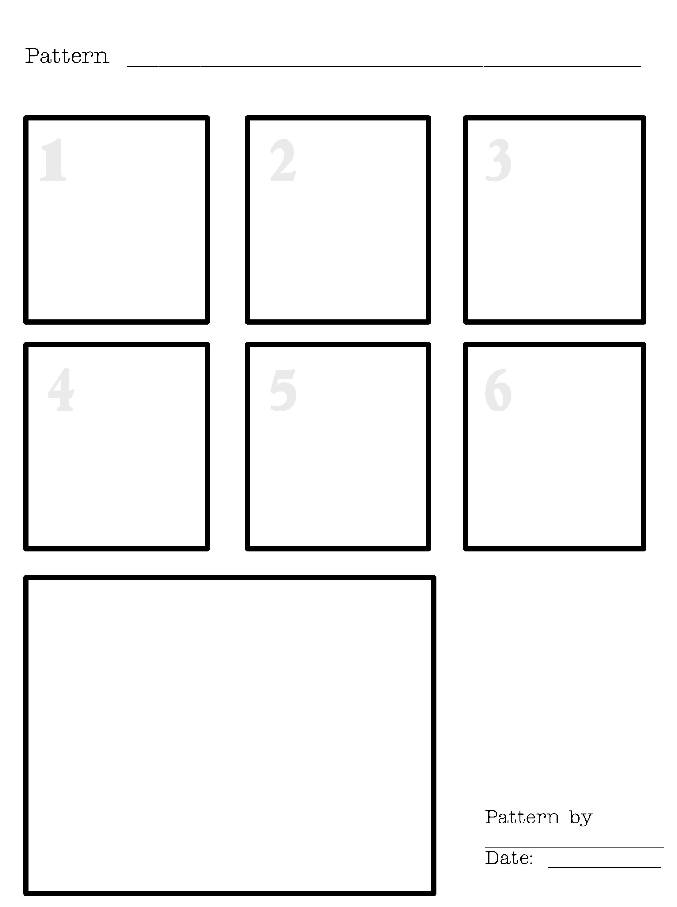 Blank Worksheet For Creating Your Own Zentangles
