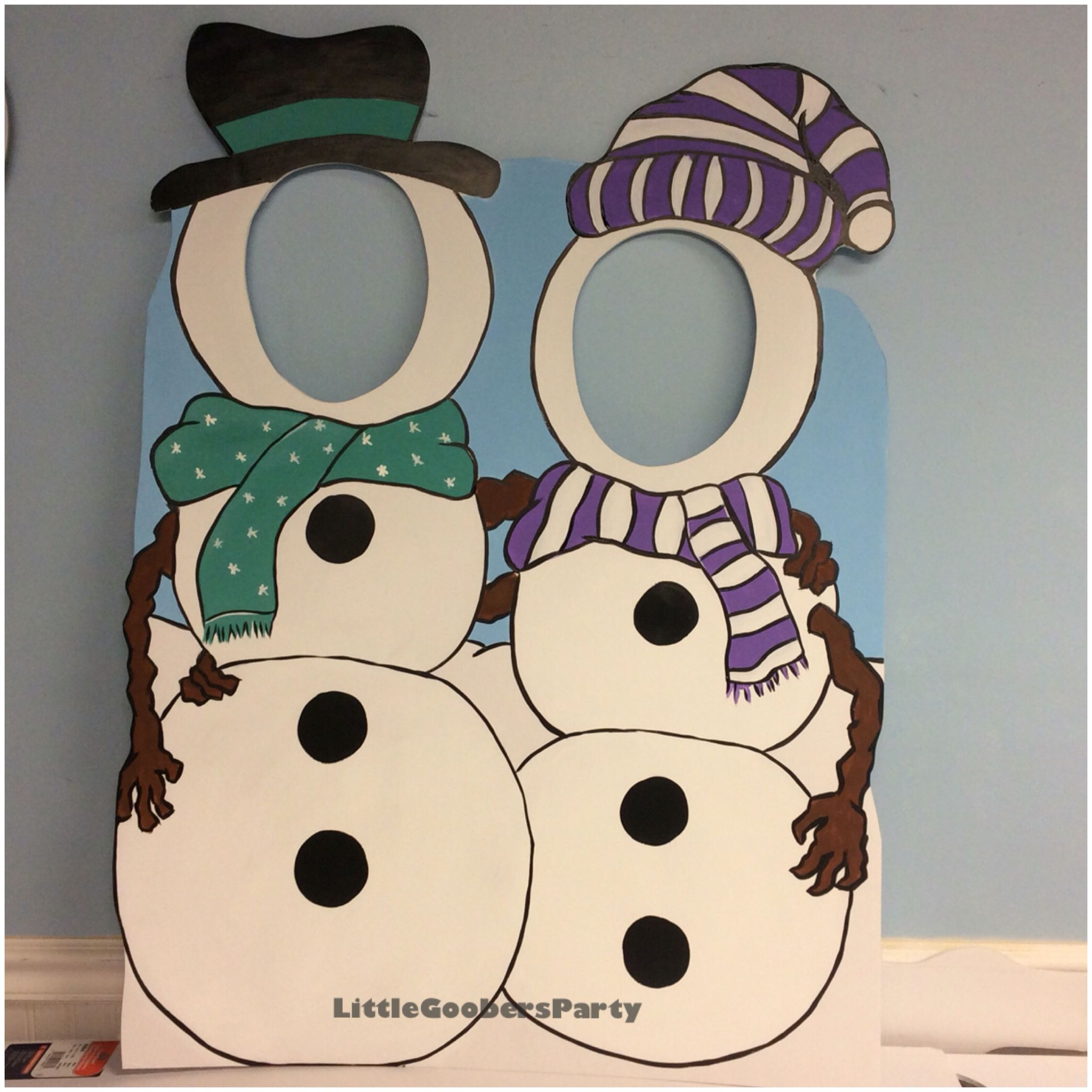 Snowman Cutout For Two This Is Hand Painted On 40x30 Foam