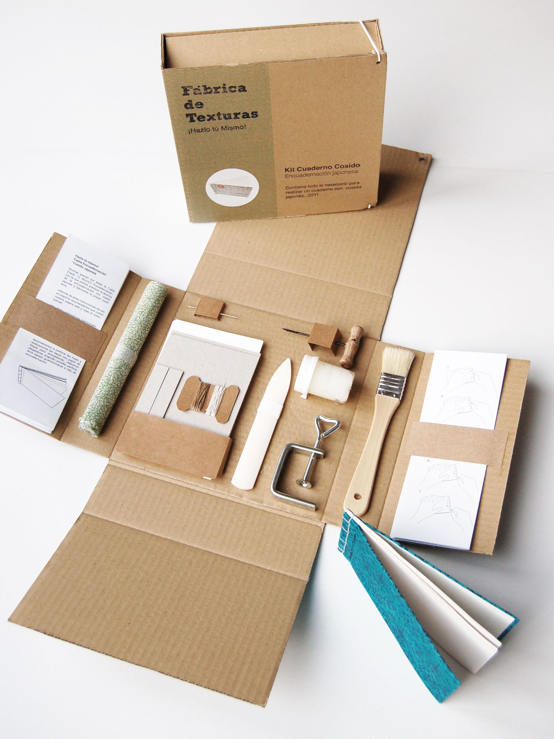 japanese bookbinding kit http//www.fabricadetexturas