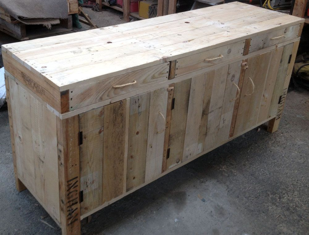 Side board / Buffet made from pallets by industrial design