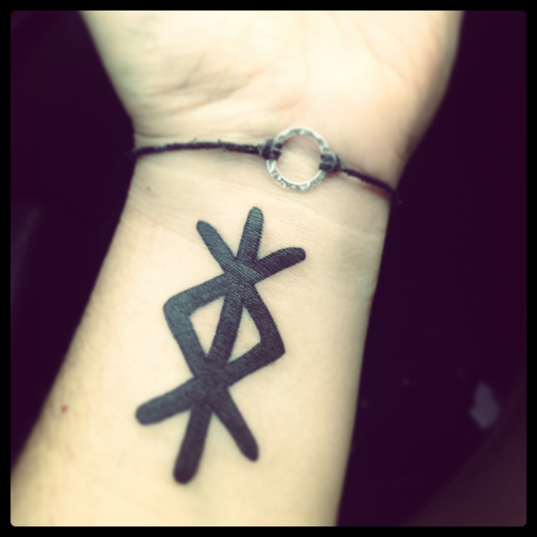 My birthday tattoo a binding rune for inner strength