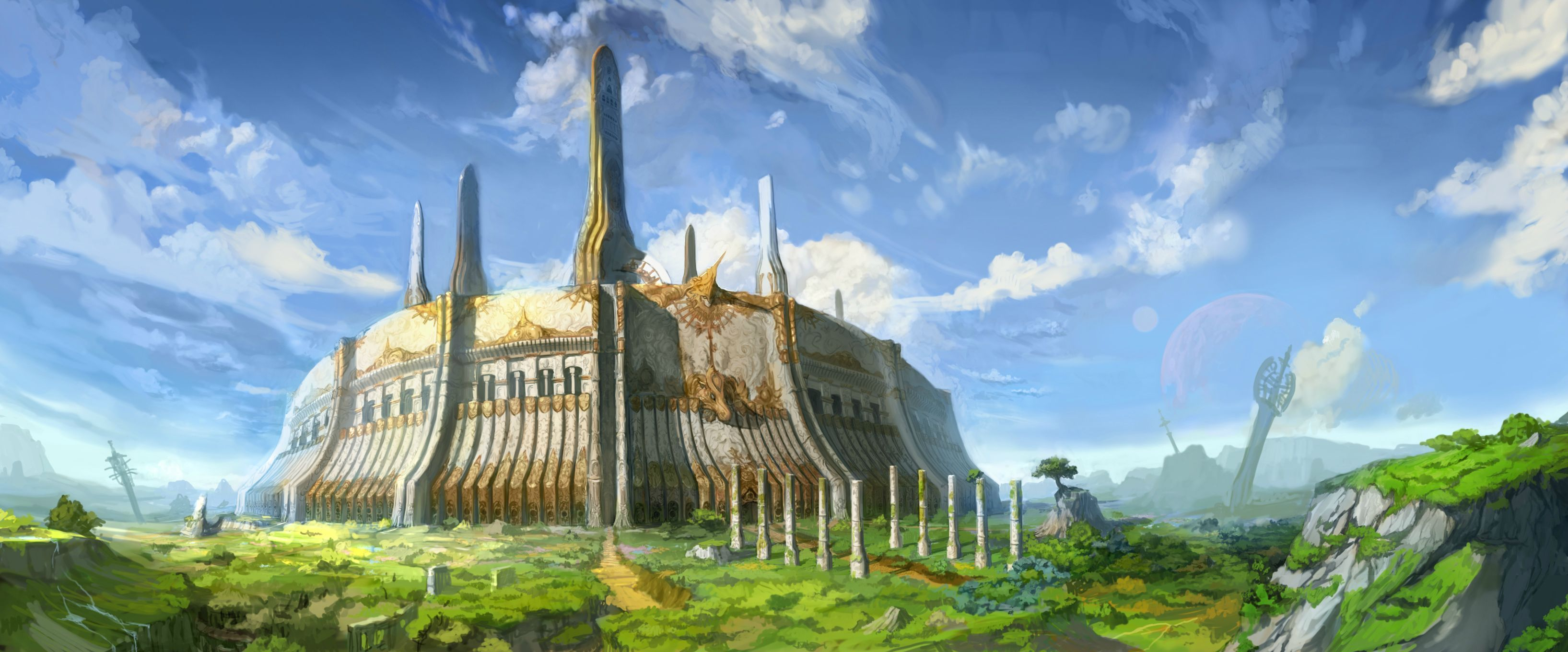 Concept Art Imperial City Valhalla via Reddit user Nidde
