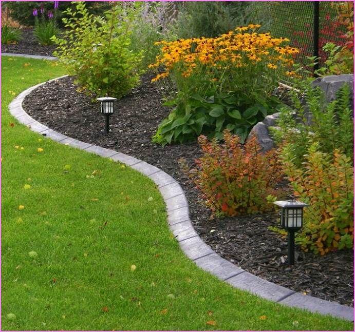 stone flower bed edging ideas Gardens Pinterest Gardens