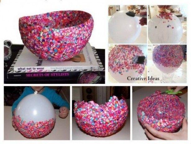 Confetti Schaal Maken Met Een Ballon Knutselen Met