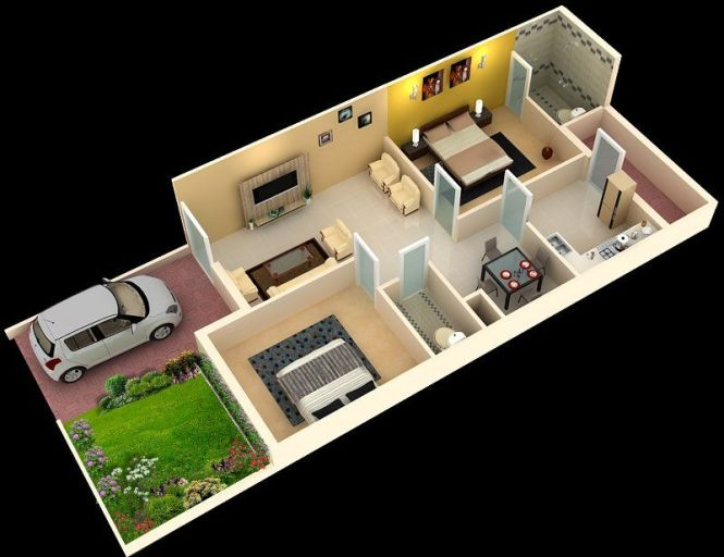 2 Bhk House Plans In India Home Decor