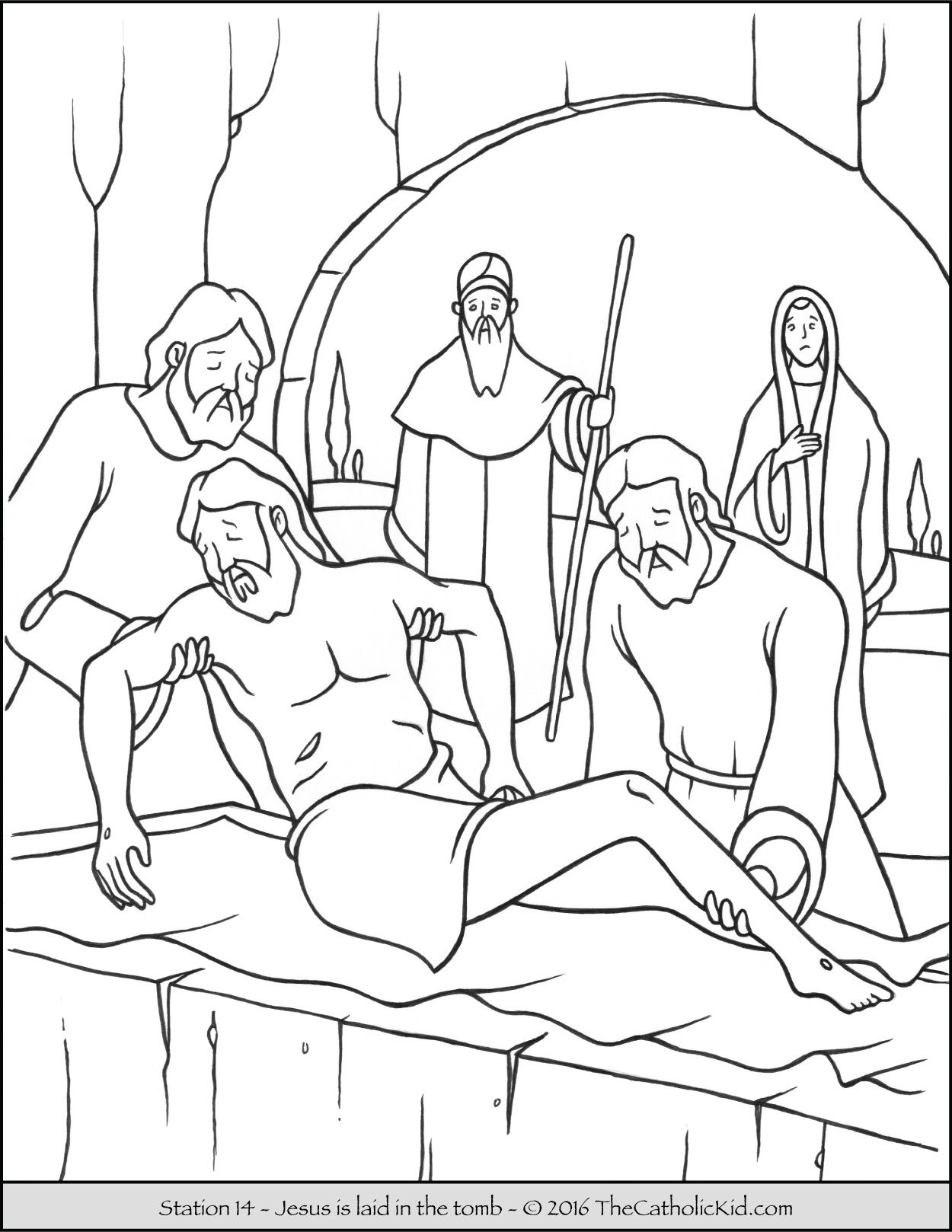 Stations Of The Cross Coloring Pages 14