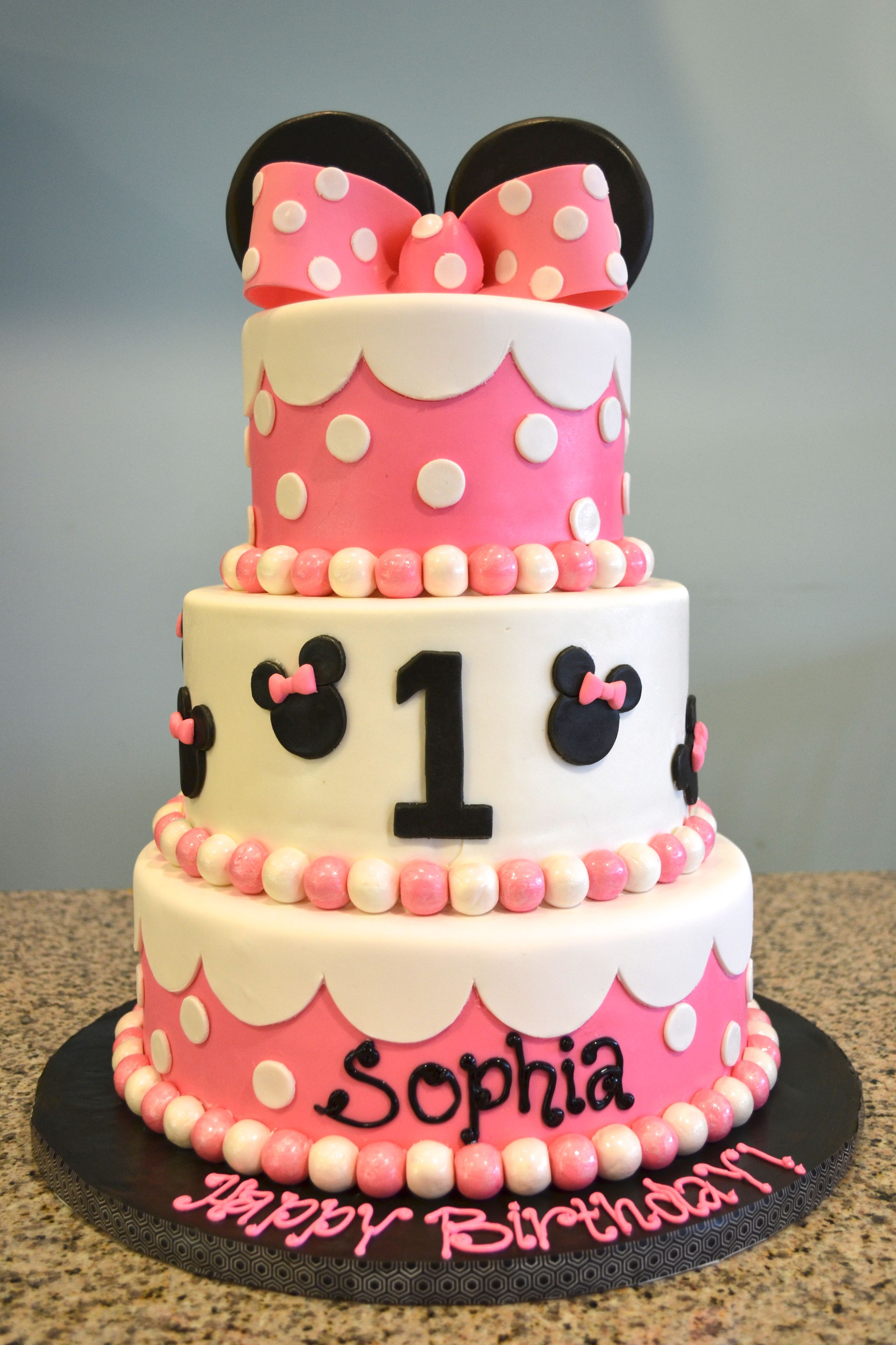 Minnie Mouse 1st Birthday Cake Baby Shower and 1st