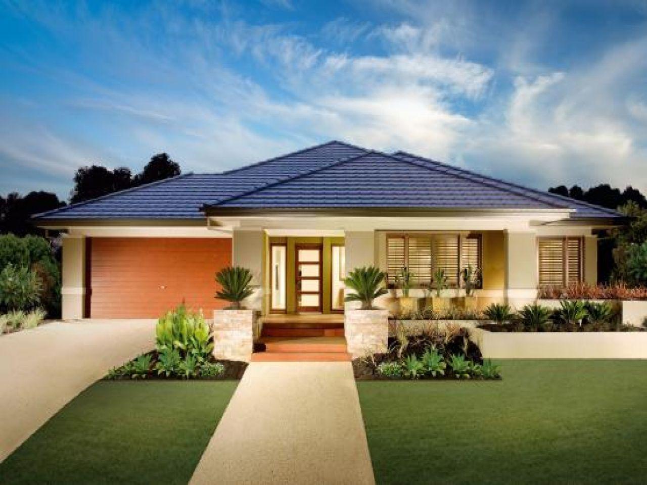 Image of Nice Single Story Modern House Plans