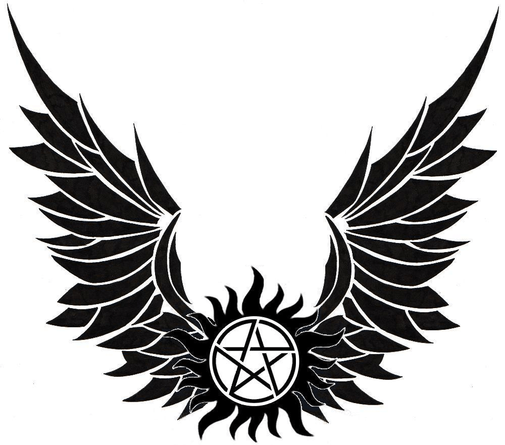 Winged Anti Possession symbol Tatoo ideas Pinterest