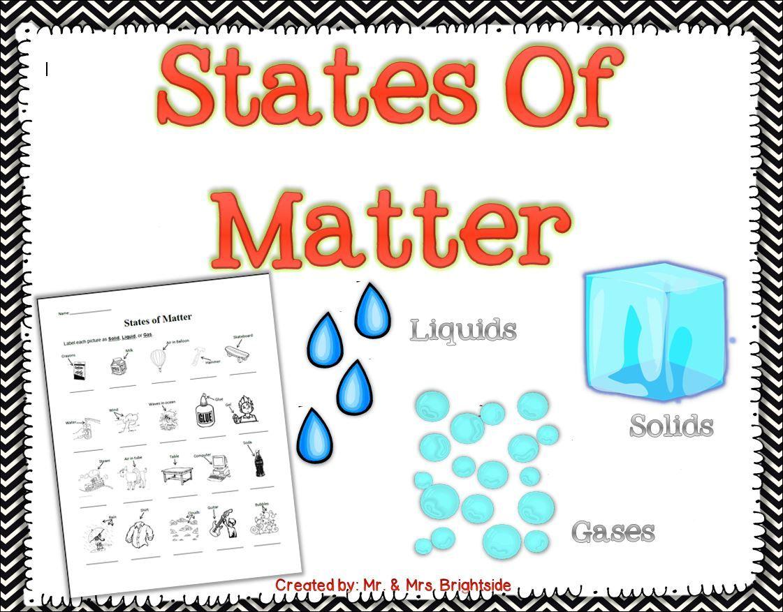 States Of Matter Science Worksheet Grade 2