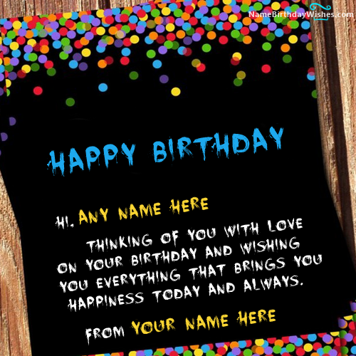 Best Happy Birthday Wish Cards With Name HBD Wishes