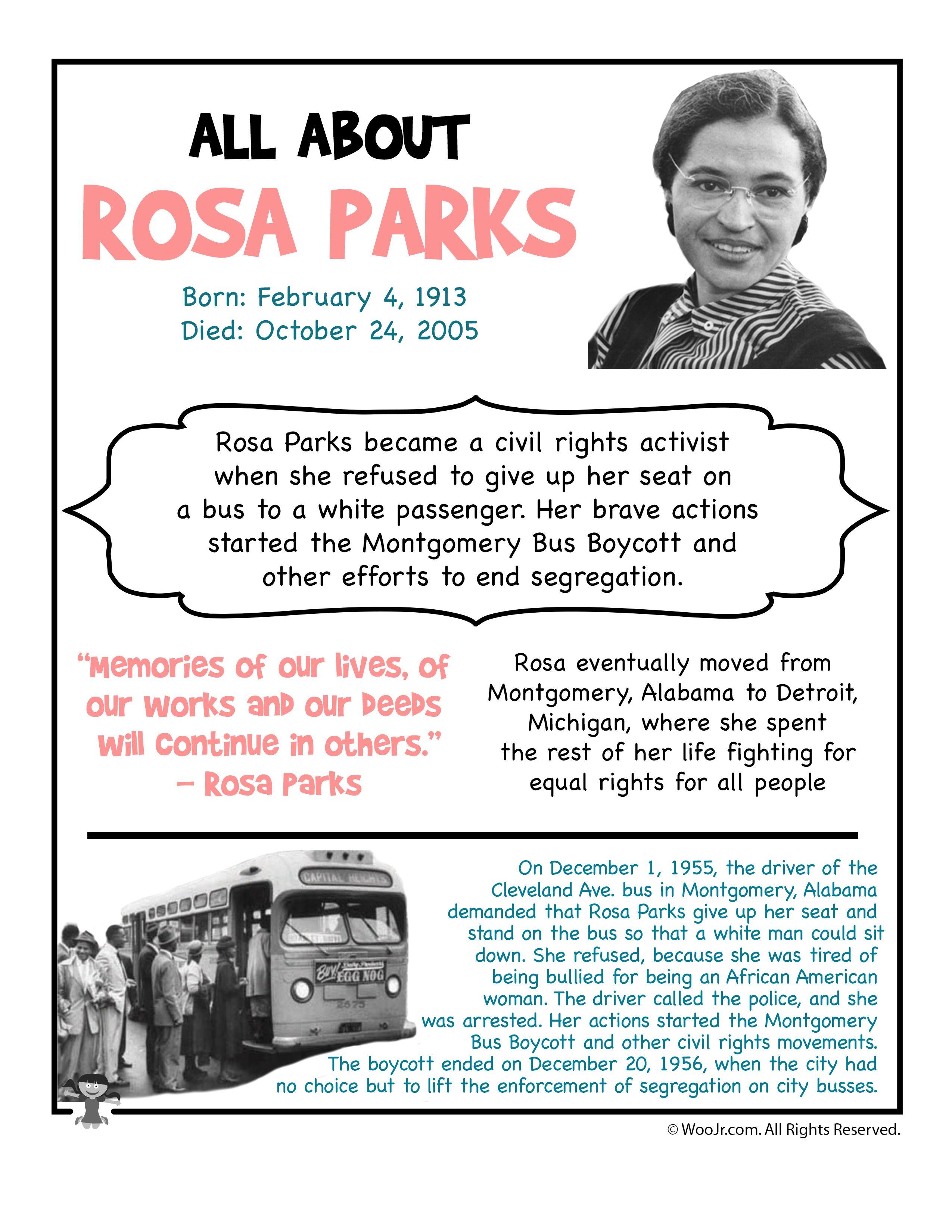Rosa Parks Fact Sheet