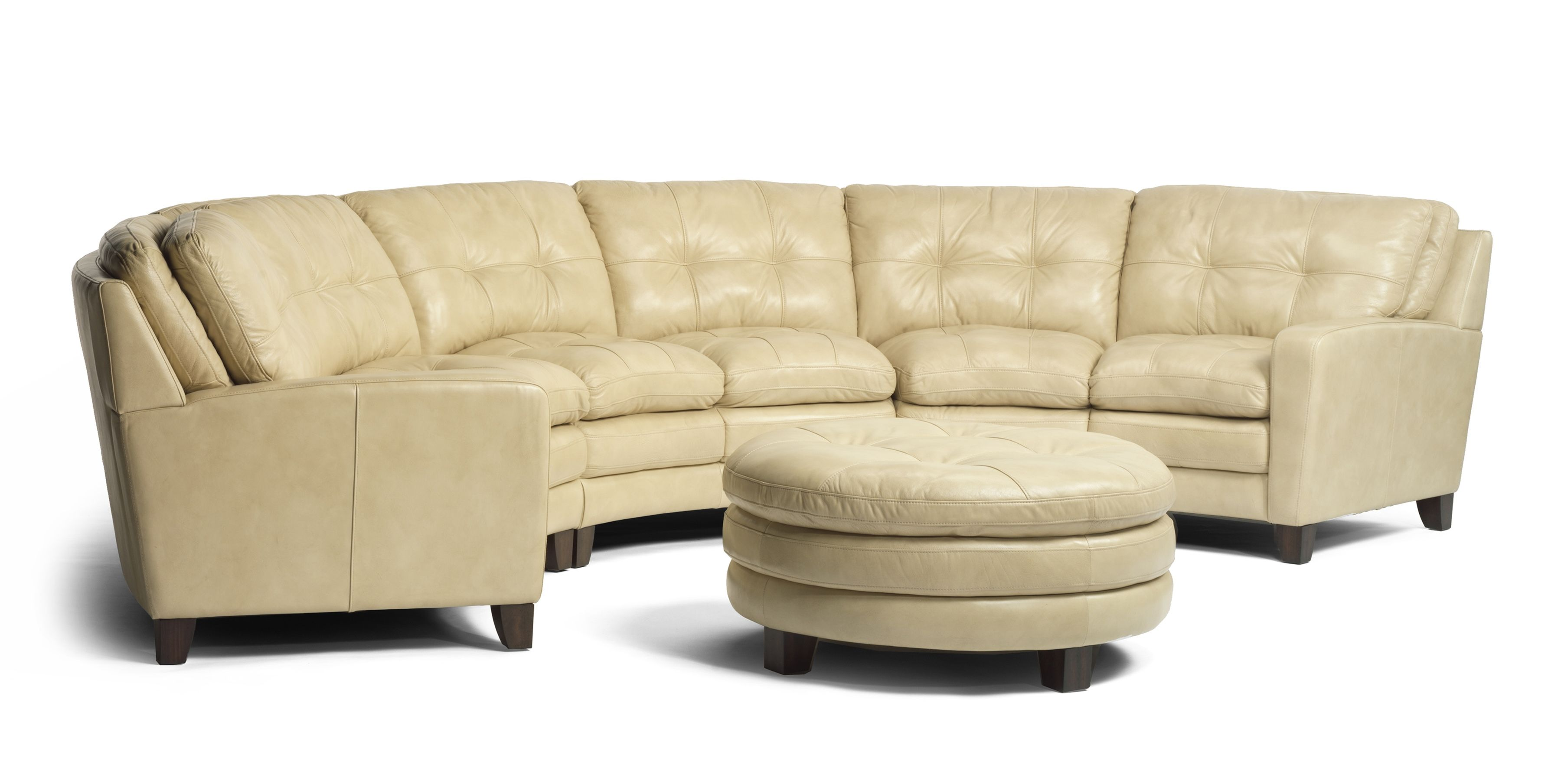 Gorgeous Cream Leather Conversation Sofa. Www.awfurniture