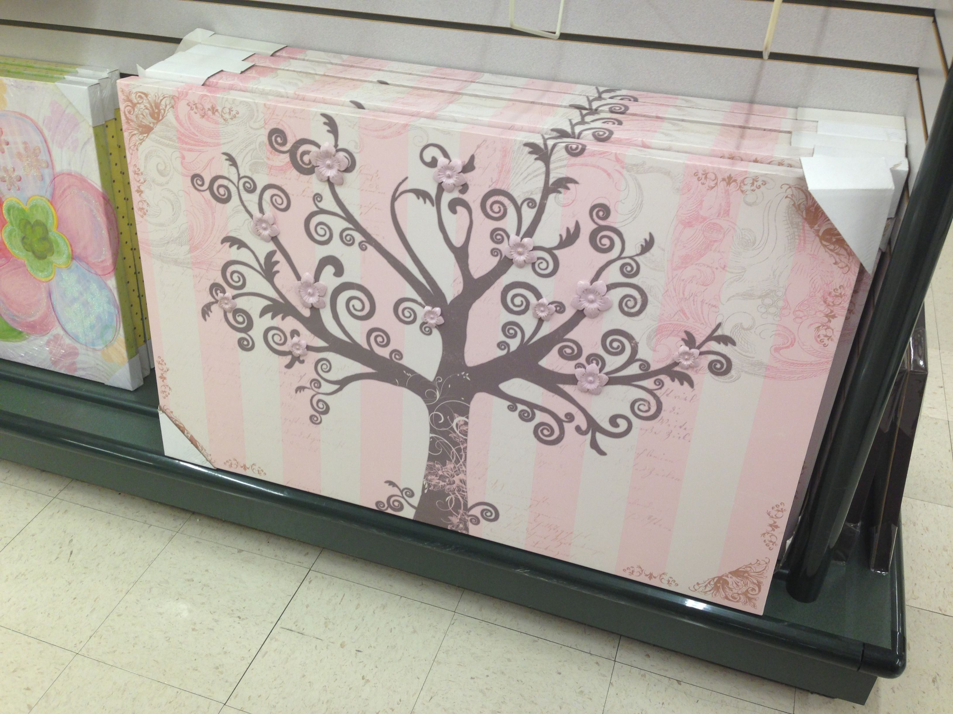 Pink tree/flower Wall art hobby lobby Mila Marie