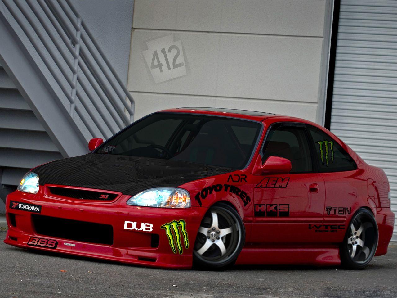 Honda Civic 2000 Modified HD Wallpaper http//wallucky