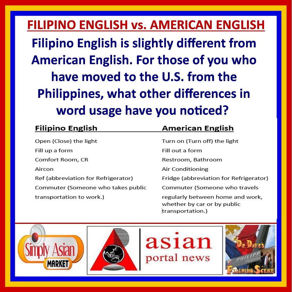 Filipino English Vs American English