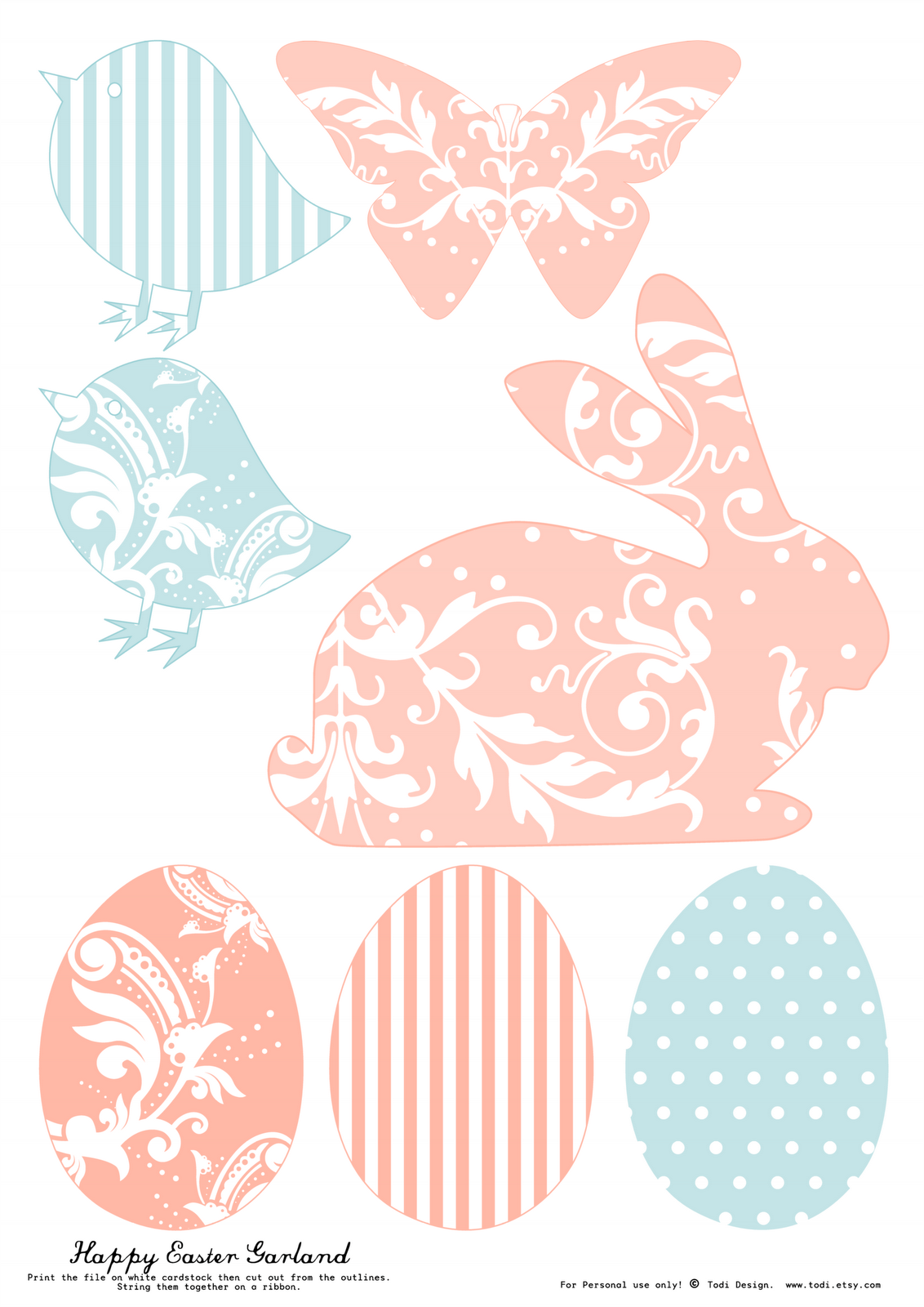 Todi Free Printables For Easter Decoration Th Print Used For This Rabbit Silhouette Is Darling