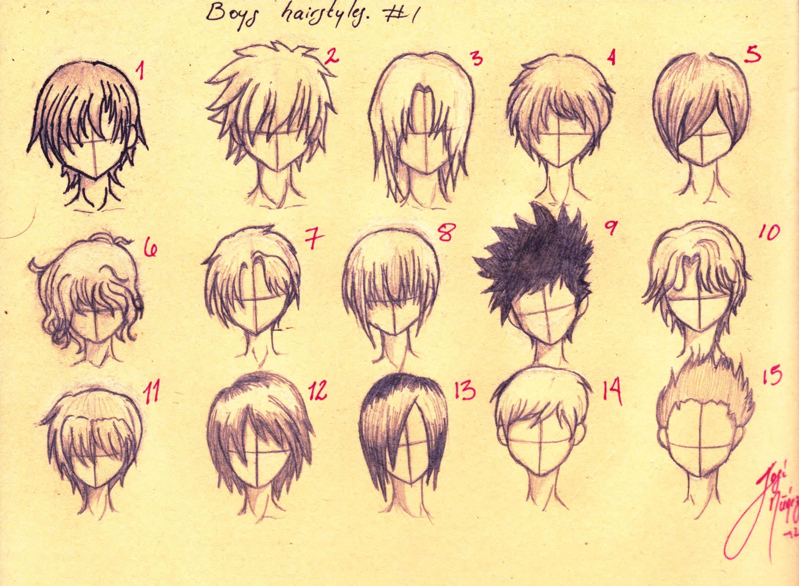 boys hairstyles Anime boys Hairstyles all fifteen