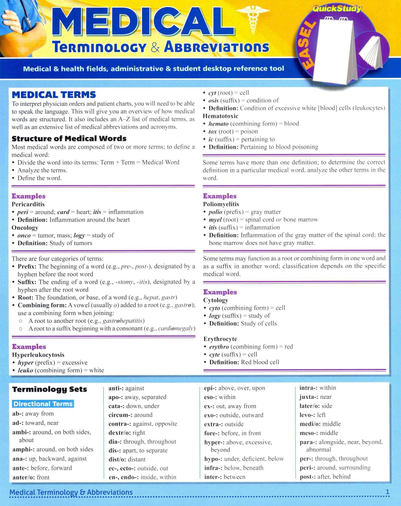 Medical Terminology Amp Abbreviations Hardcover